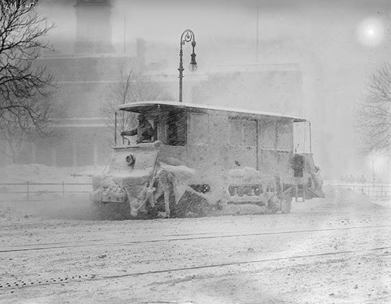 Snow Plow during Blizzard, 1910