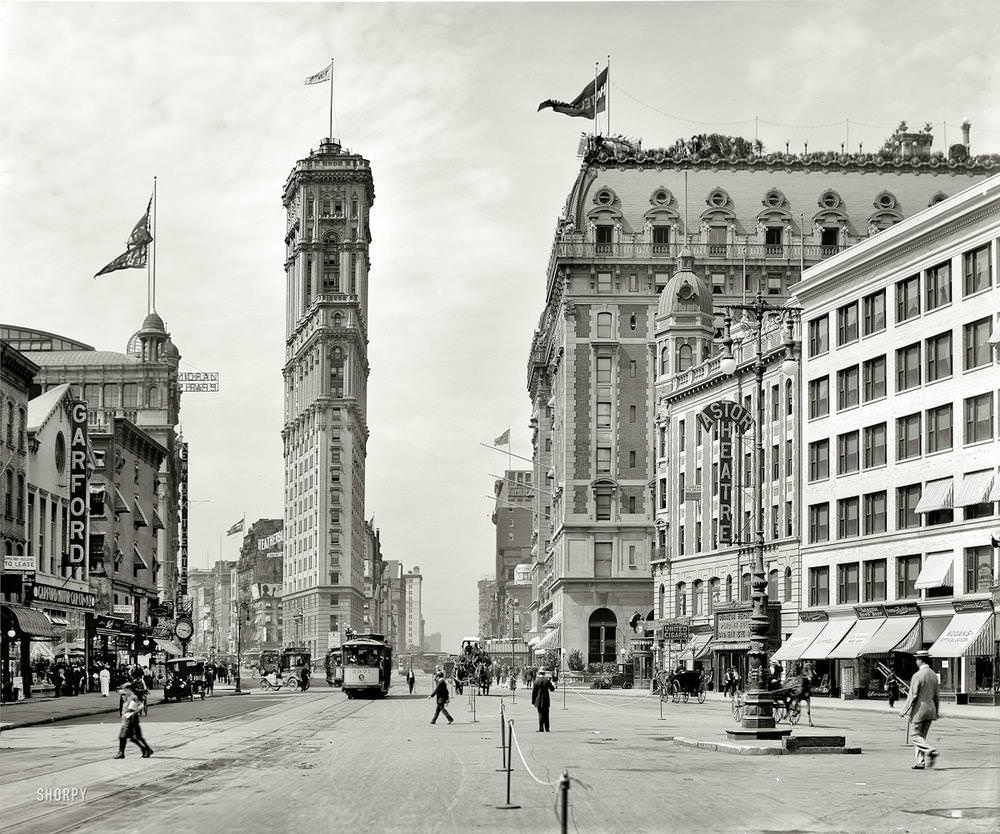 Times Square, The old New York Times building, 1908