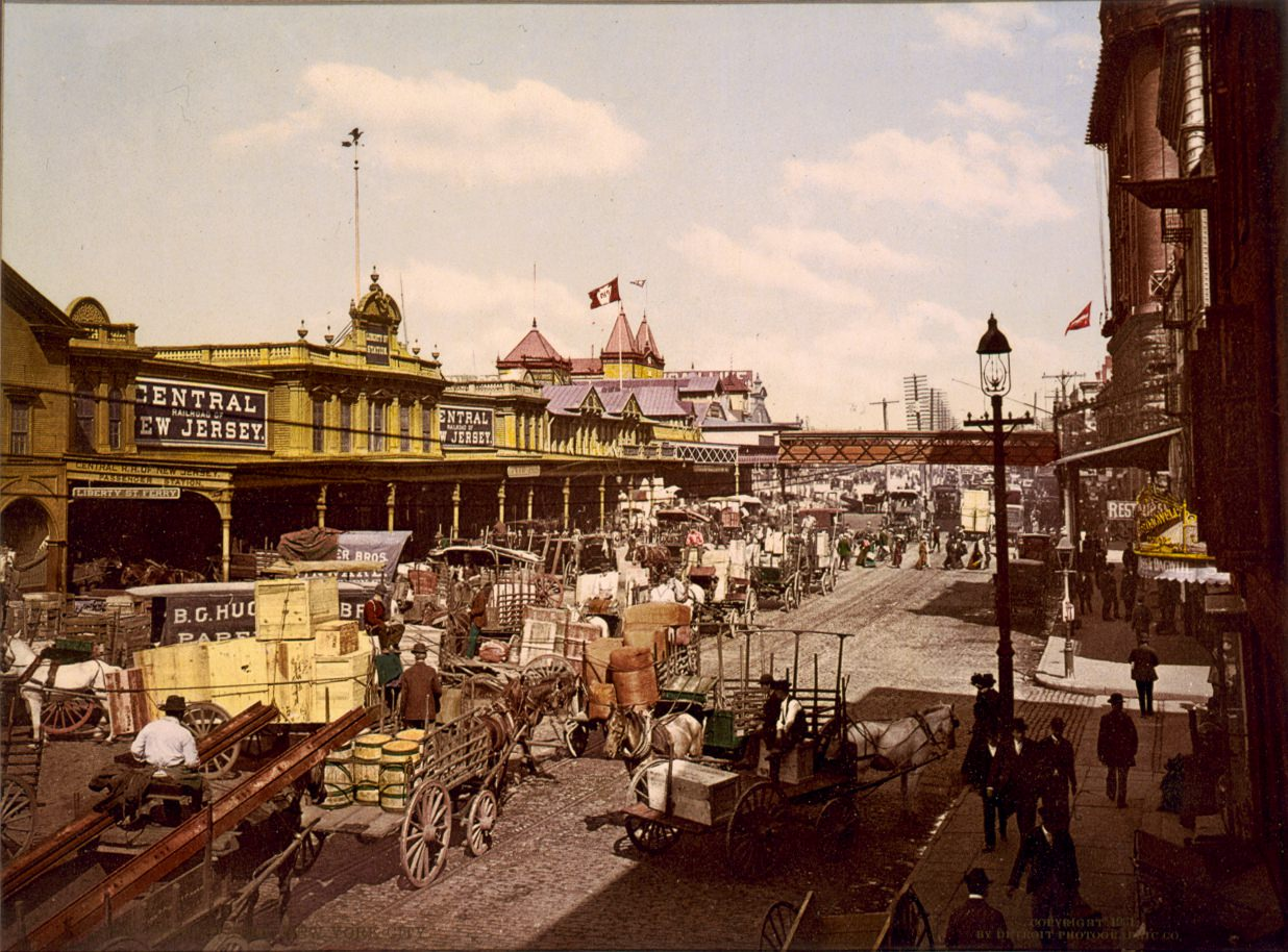 West Street and Liberty Street, 1900