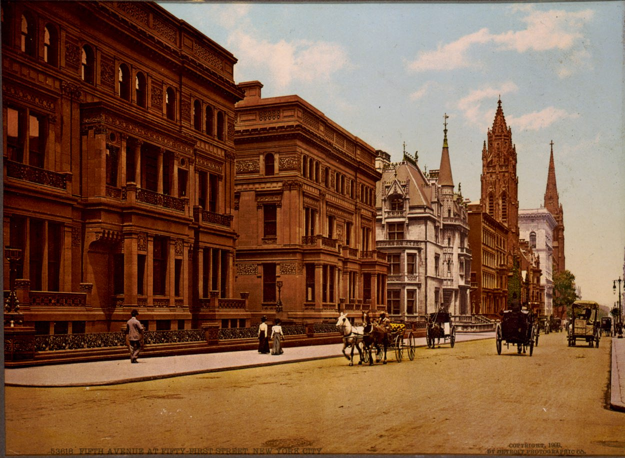 Fifth Avenue and 51st Street, 1900