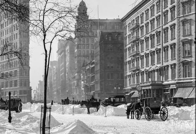 5th Avenue after a Snow Storm, 1905