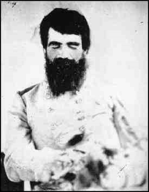 Post-mortem photo of Gen. Turner Ashby, a confederate cavalry commander in the American Civil War.