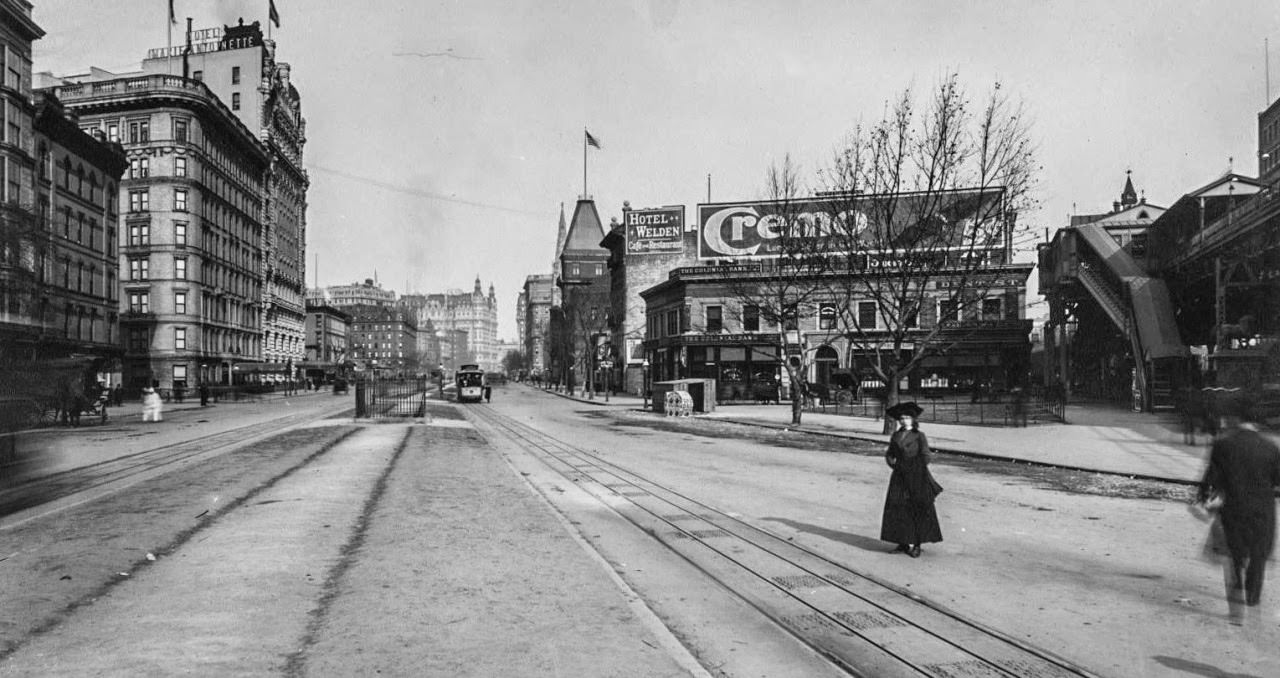 Broadway, Looking North from 66th Street, 1890
