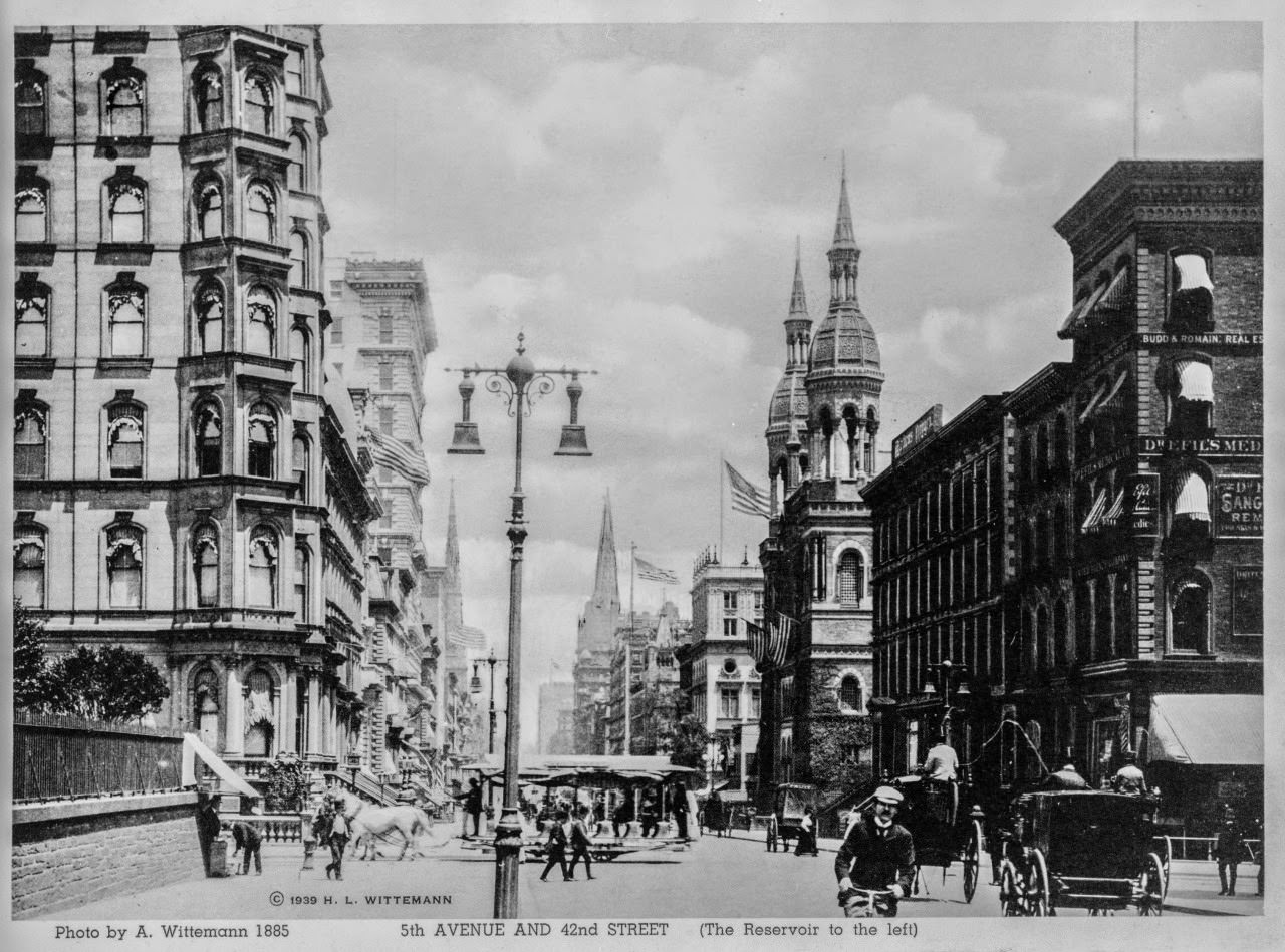 5th Avenue at 42nd Street Looking North, 1885