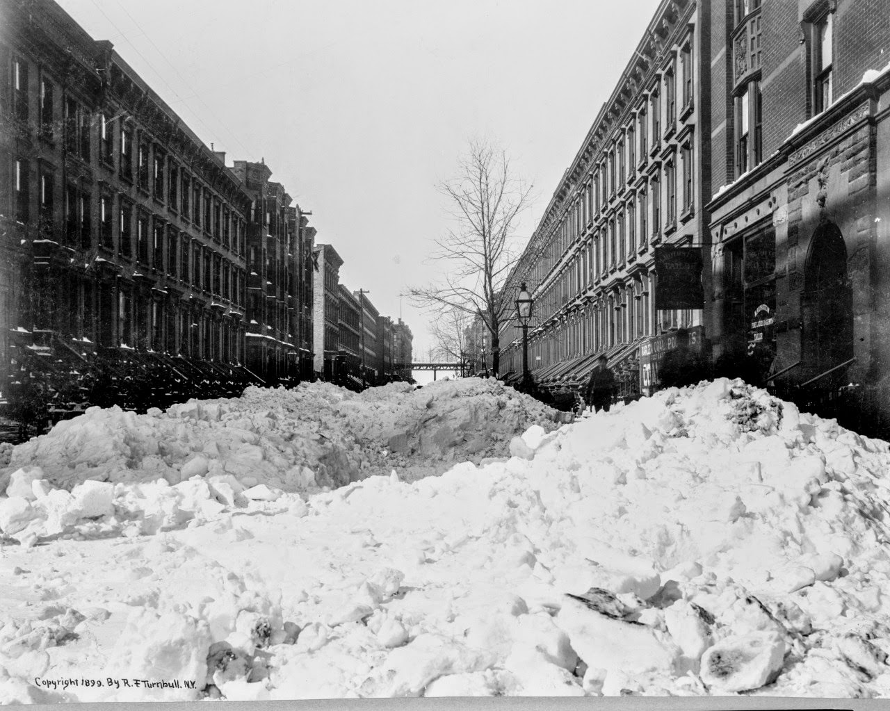 Harlem, after the Blizzard of February 13, 1899