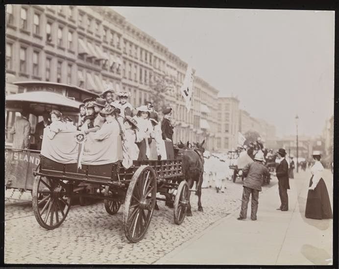 Parade, Street Cleaners, Fifth Ave. & 42nd St., 1896