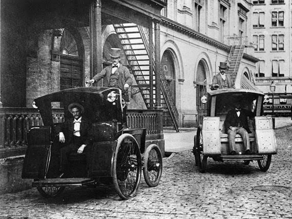 First Electric Taxis, 1896