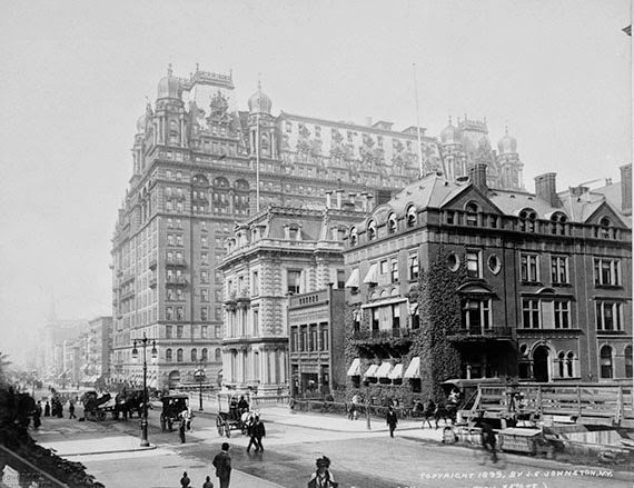Waldorf Astoria Original Site at 5th Ave and 35th Street, 1899