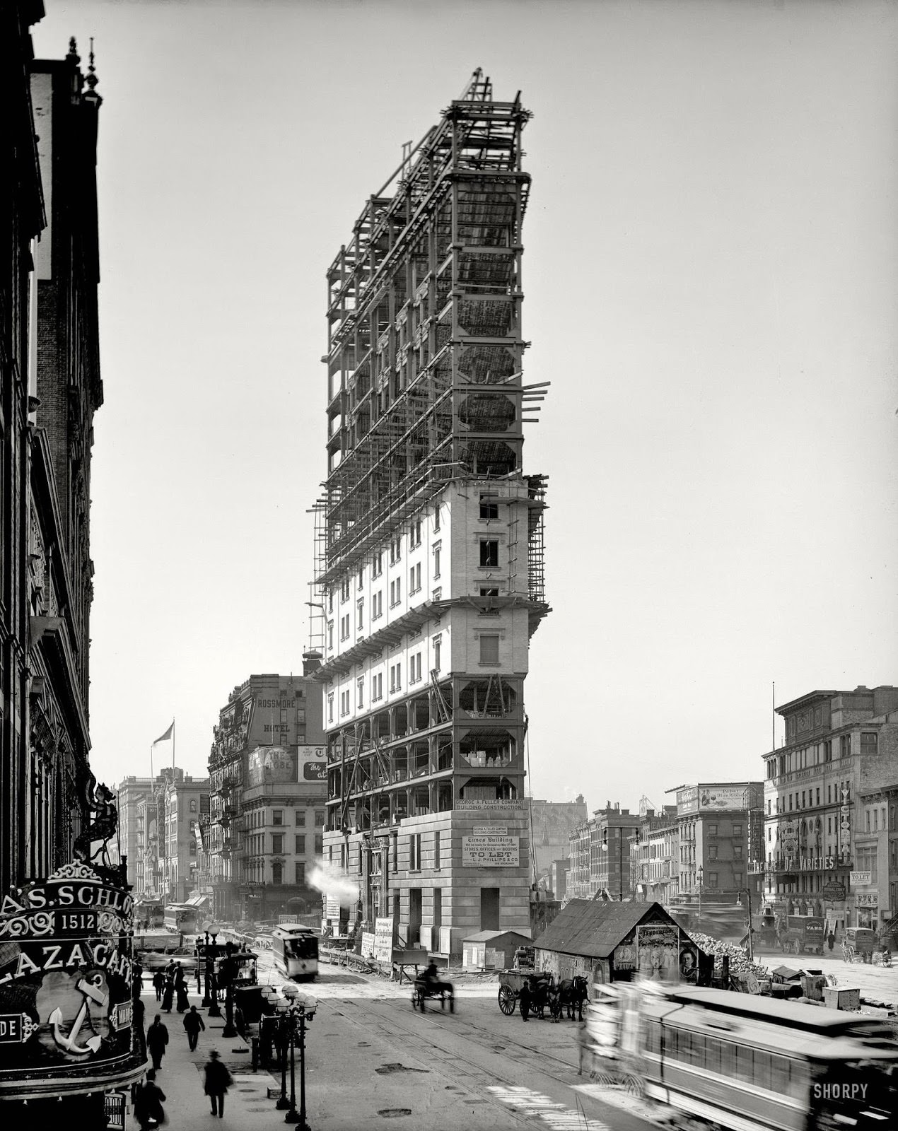 Times Square under construction