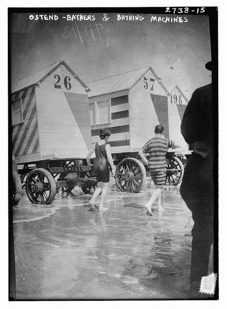 Megy úszni a kerekeken: 50+ történelmi fotó a fürdõgépekről a viktoriánus korszakból