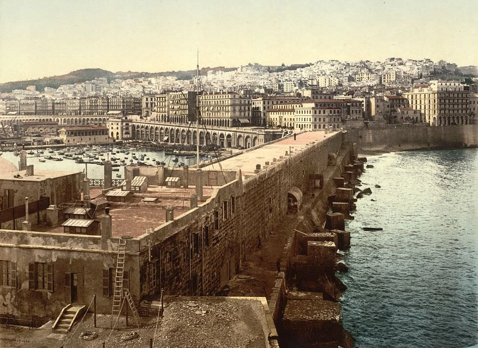The harbor from the lighthouse, Algiers, Algeria