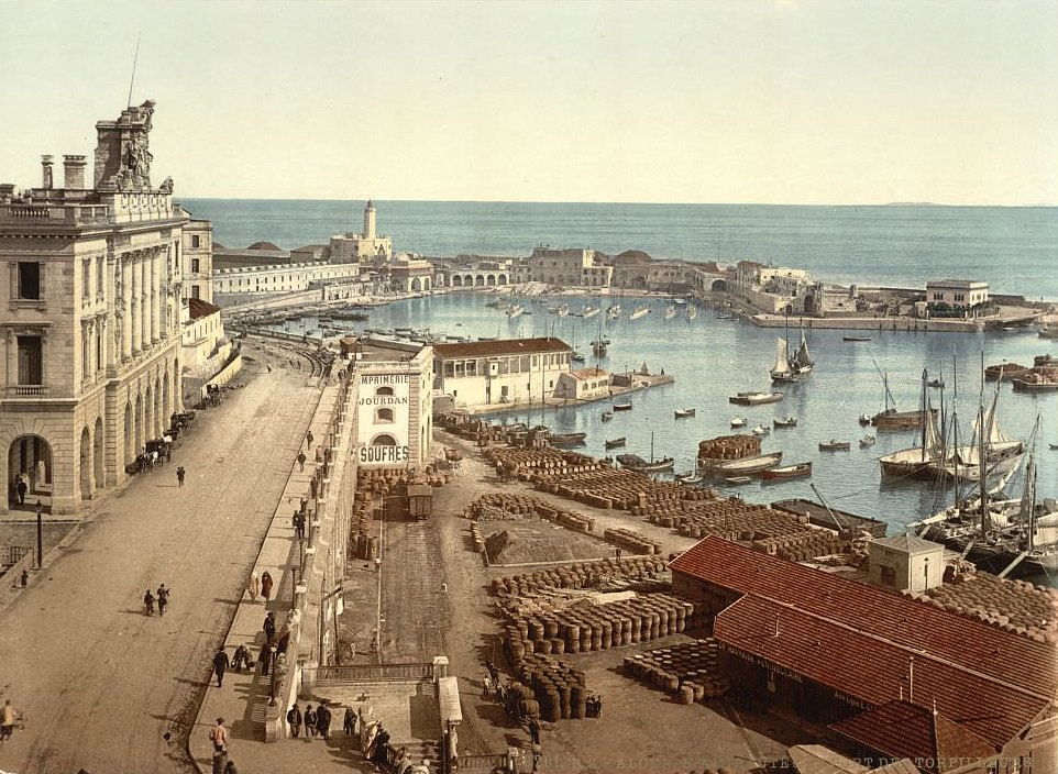 The harbor and admiralty, Algiers, Algeria