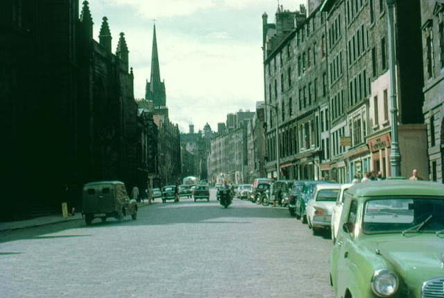 Looking west at St. Giles Cathedral, High Street, Edinburgh, 1962