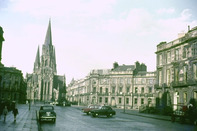 St. Mary's Episcopalian Cathedral from Melville Street, Edinburgh, 1962
