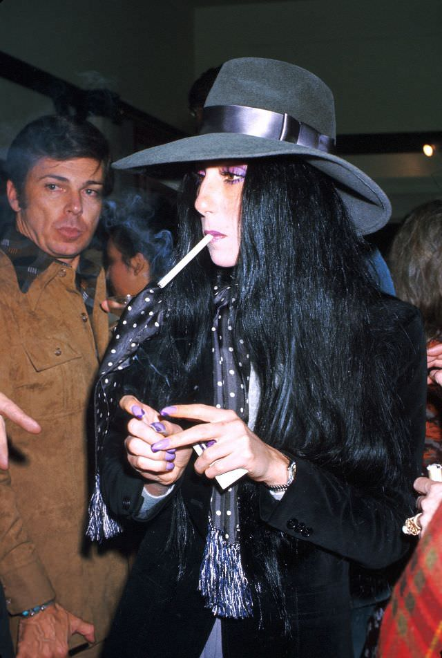 Cher attends an event in Los Angeles, California. Photo by Michael Ochs Archives, 1974