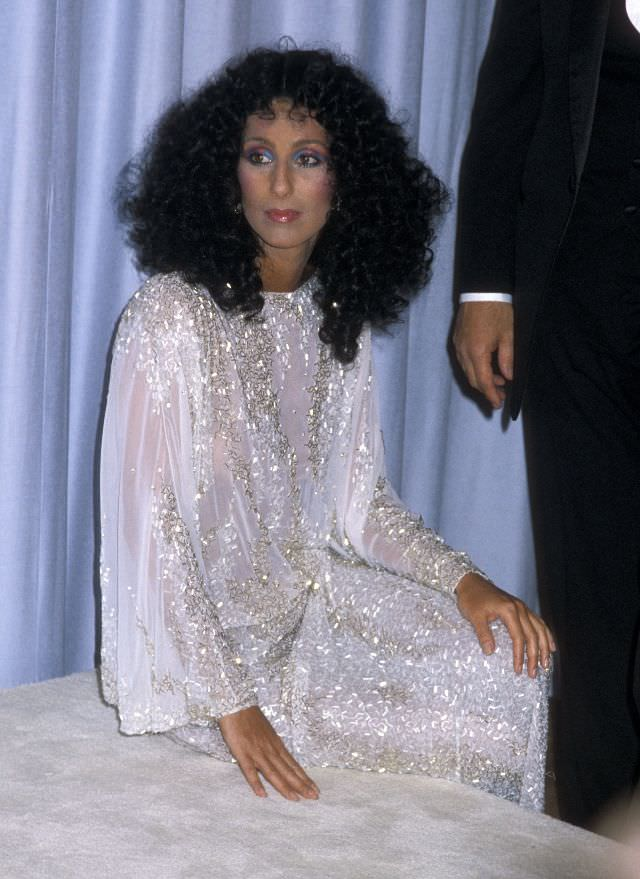 Cher attends the 55th Annual Academy Awards at Dorothy Chandler Pavilion, Los Angeles Music Center in Los Angeles, California. Photo by Ron Galella, 1983