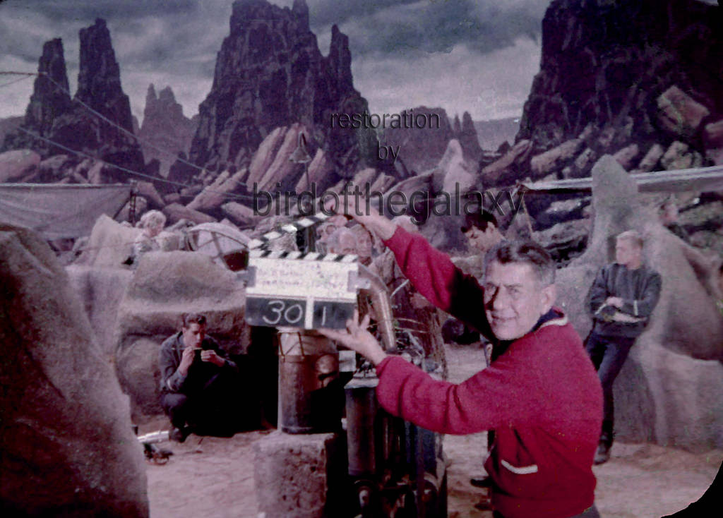 A restoration of a badly decomposed clip showing filming of The Cage in December 1964.