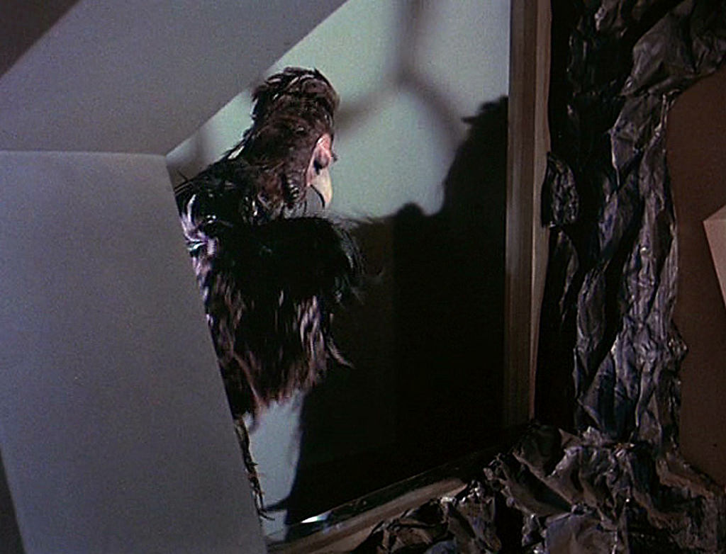 Janos Prohaska, who also played the Mugato and Horta, played the bird like creature in an adjacent cage under the surface of Talos IV in the first pilot.
