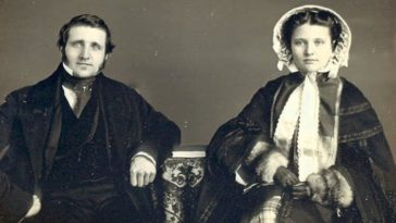 Victorian couples husband wife portrait