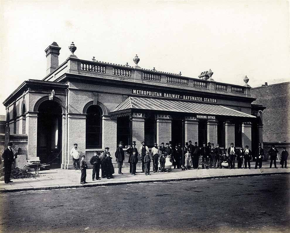 Bayswater Station upon completion, 1866