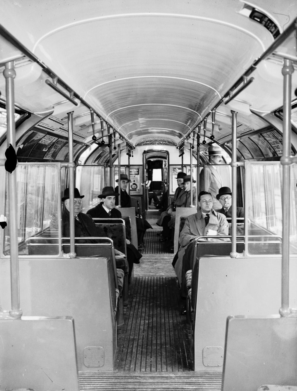 New interiors in 1936: more seating, better lighting and ventilation and a more streamlined shape.