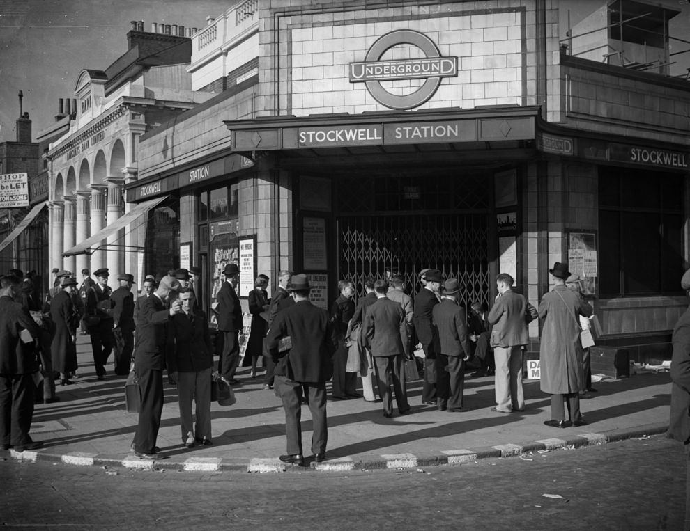 Stockwell station, 1939.