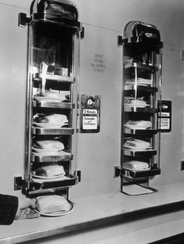 Not the most exciting vending machine — dispensing lumps of coal in France — but still useful once upon a time.