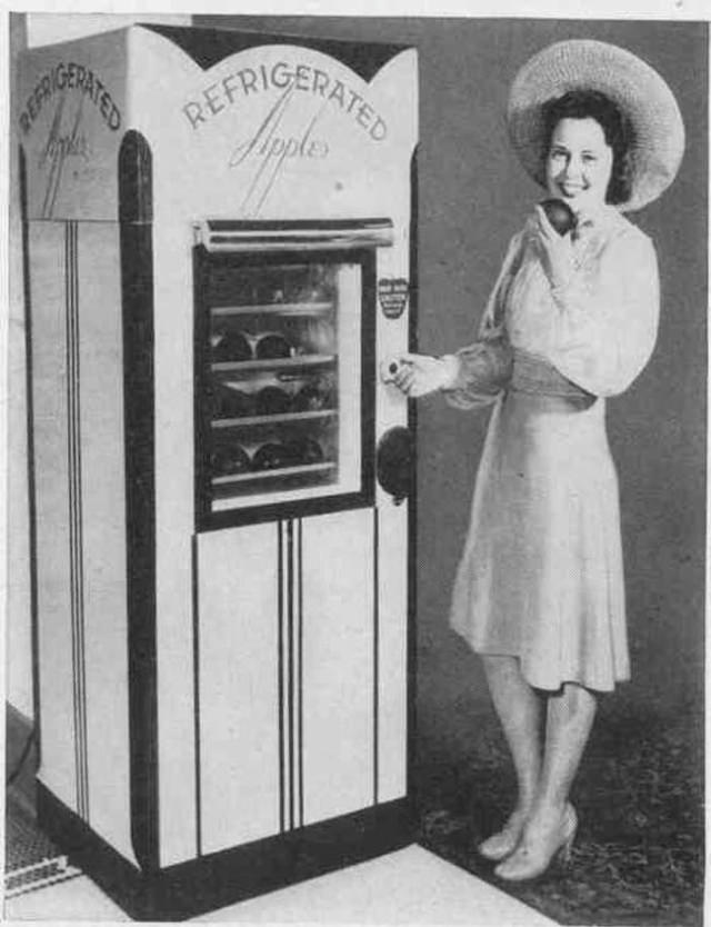 Why pick apples when you can get them from a vending machine?