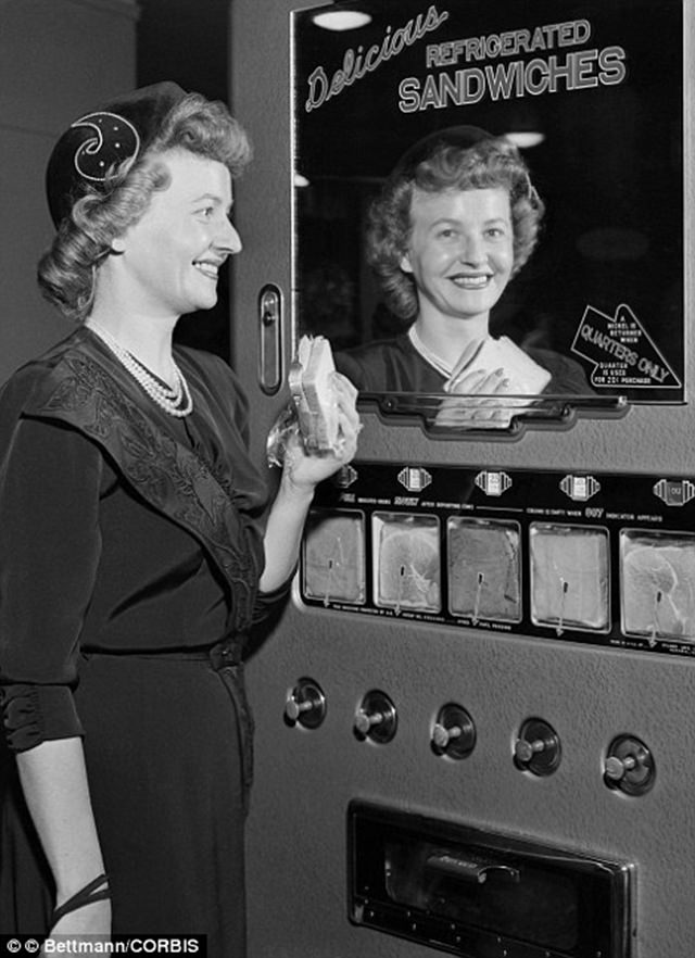 This coffee machine was released by the National Automatic Merchandising Association at the World's Fair Of Vending Machines, 1947.