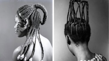 intricate afro hairstyle