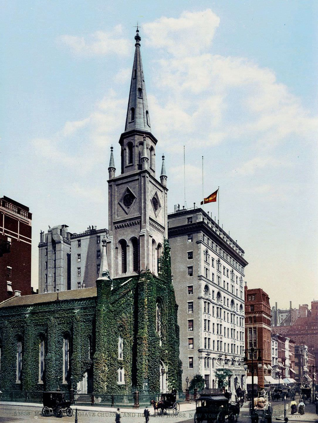 Marble Collegiate Church and Holland House, 1900