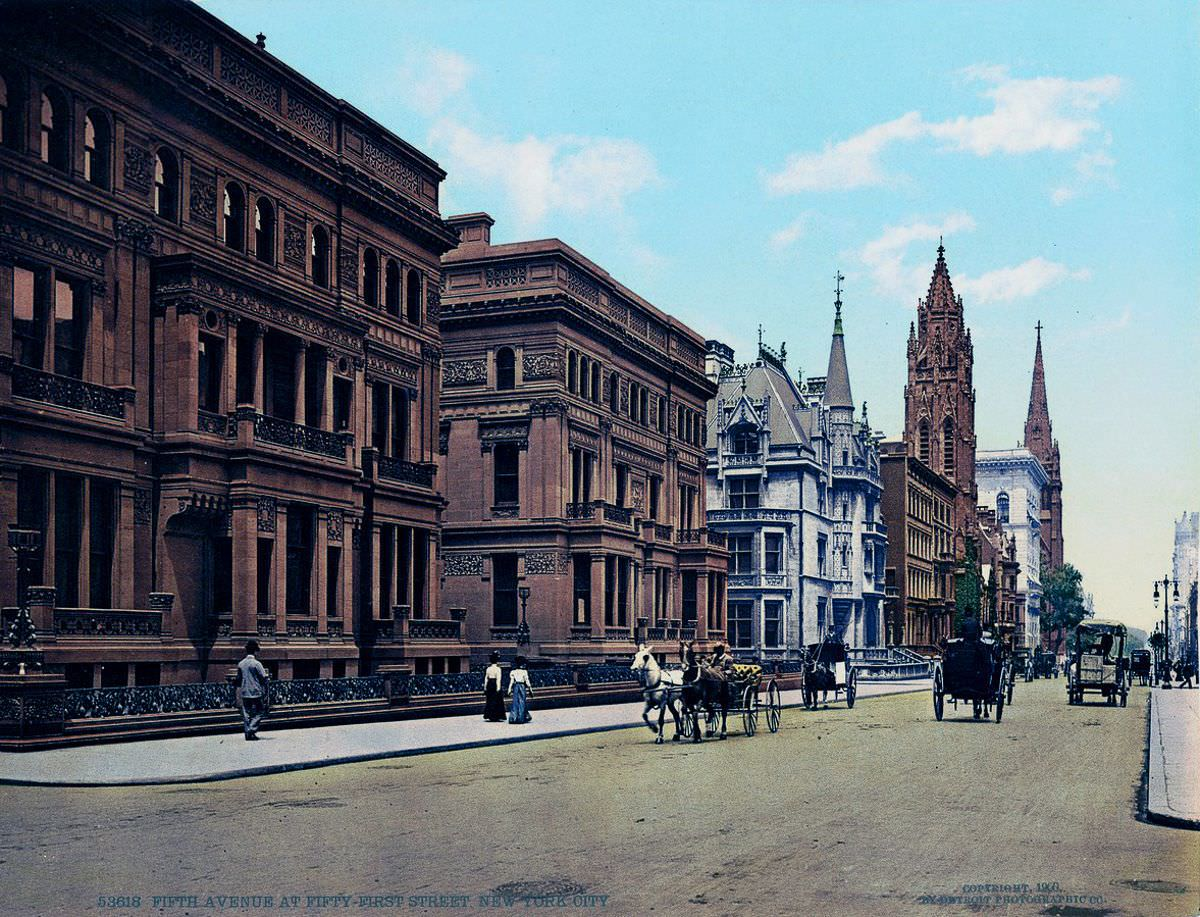 Fifth Avenue at 51st Street, 1900