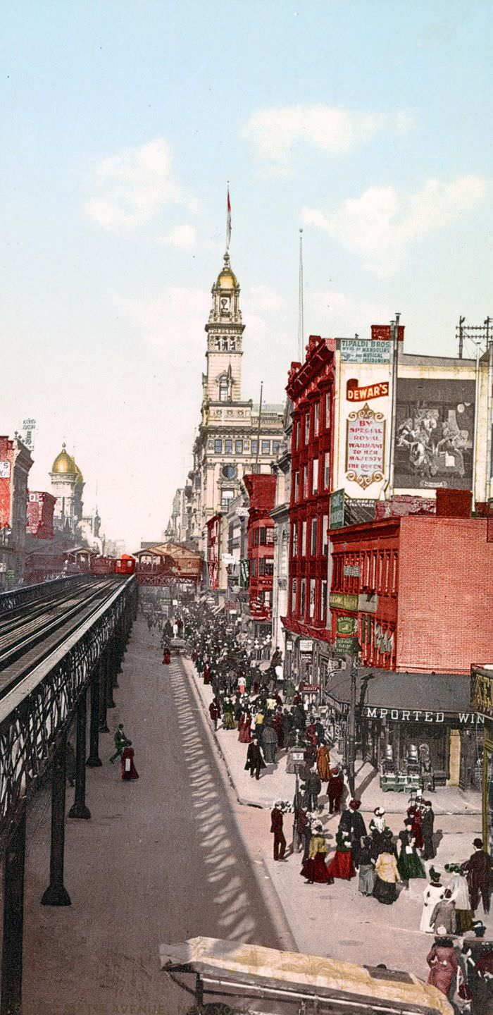 A View of Sixth Avenue, 1900