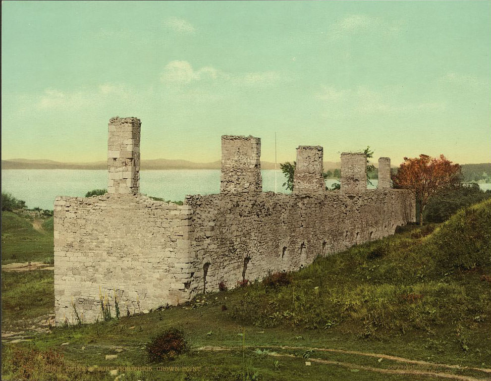 Ruins of Fort Crown Point, a British fort on Lake Champlain, Crown Point, 1902