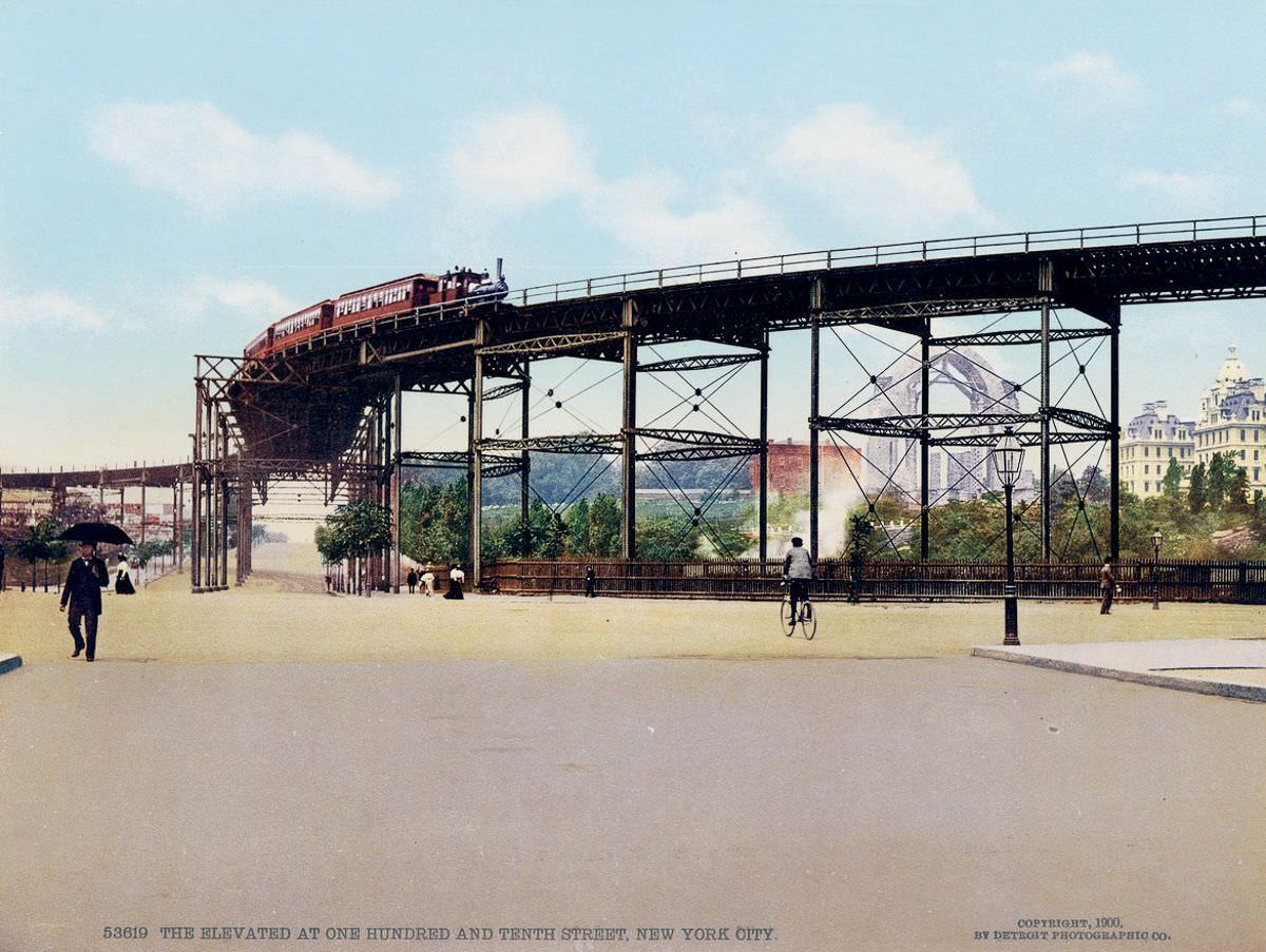 The Elevated at 110th Street, 1900