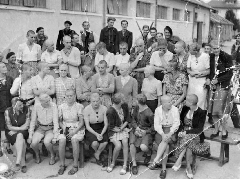 Throughout France, from 1943 to the beginning of 1946, about 20,000 women of all ages and all professions who were accused of having collaborated with the occupying Germans had their heads shaved.