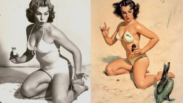 Pin-Up Models Before And After Editing: The Real Women Behind Incredibly Beautiful Paintings