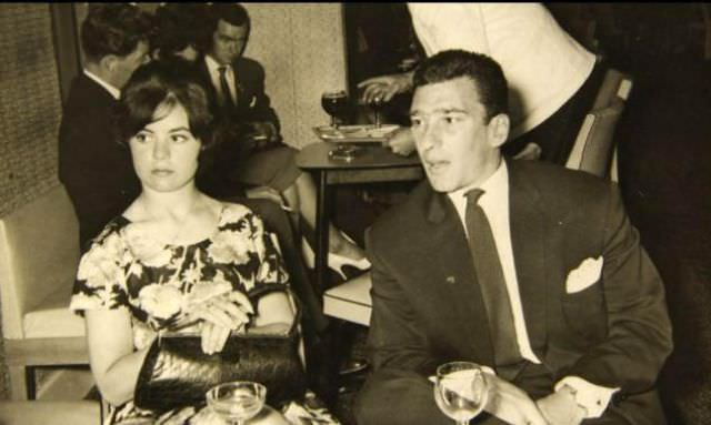 Frances Shea and gangster Reggie Kray on holiday in Jersey, 1960s