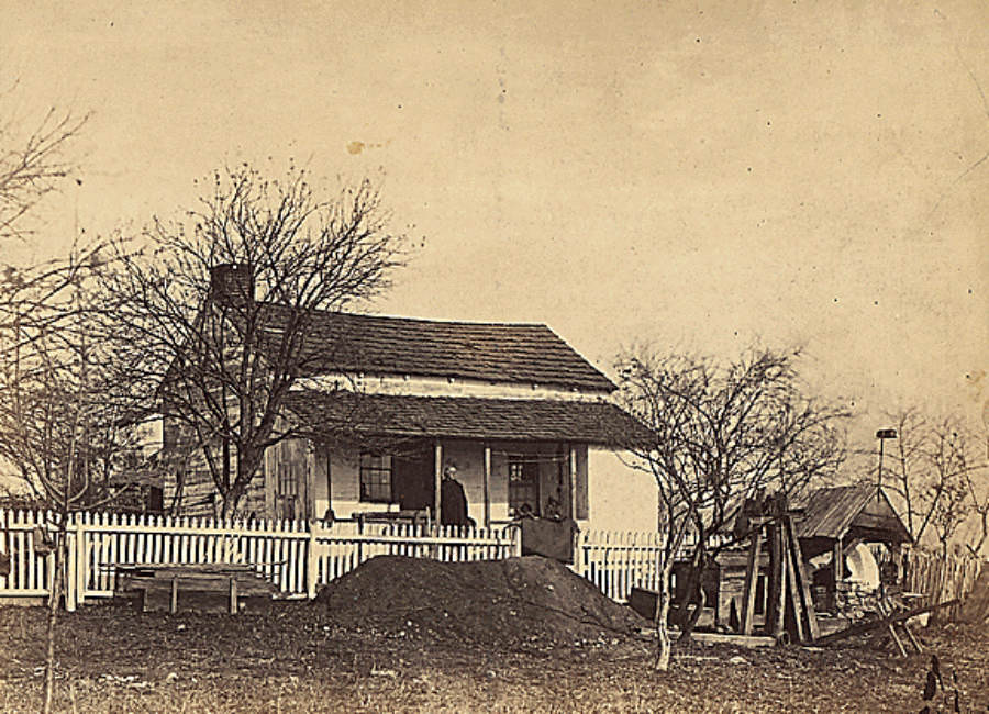 The headquarters of the Army of the Potomac during the Battle of Gettysburg.