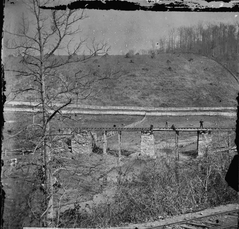 A bridge at nearby Hanover Junction that was burned by the Confederates prior to the Battle of Gettysburg.