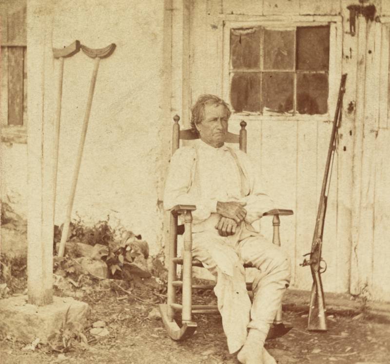John L. Burns recovers from his wounds. July 1863.