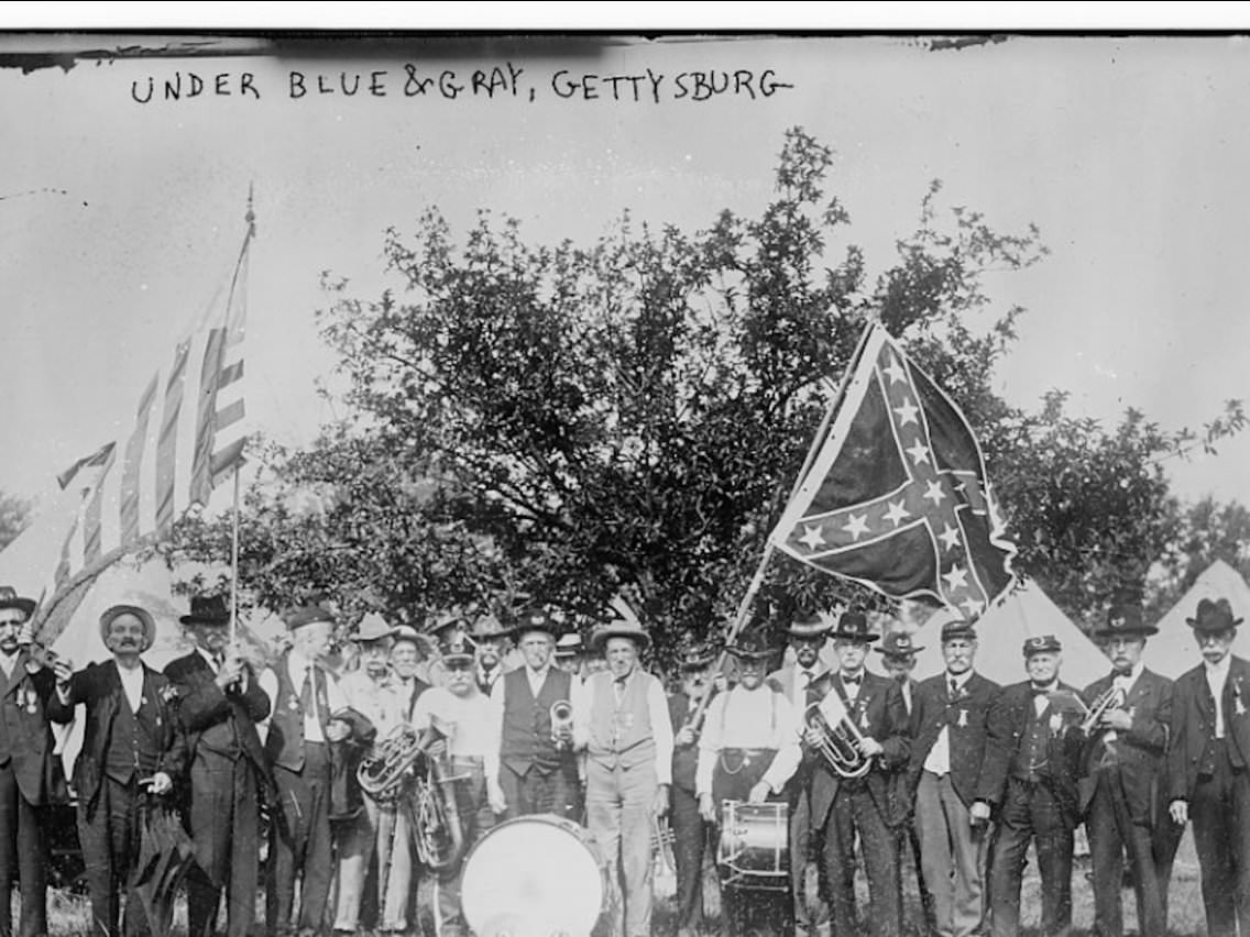 Veterans of the American Civil War during a reunion commemorating the 50th Anniversary of the Battle of Gettysburg.