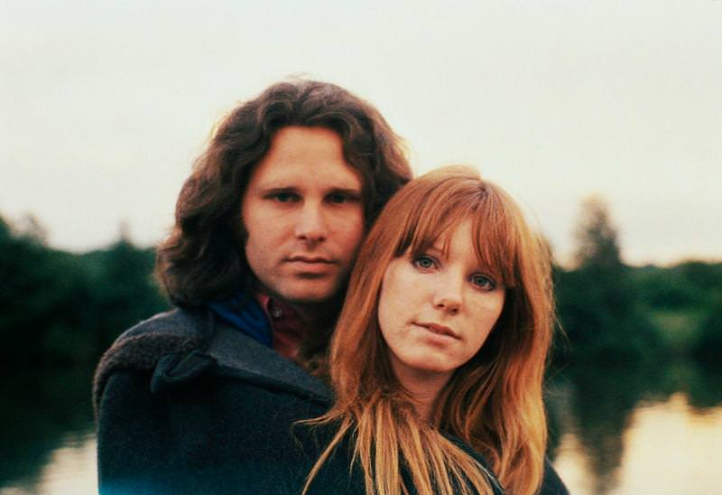 Pamela Courson and Jim Morrison on a lovely evening, 1970