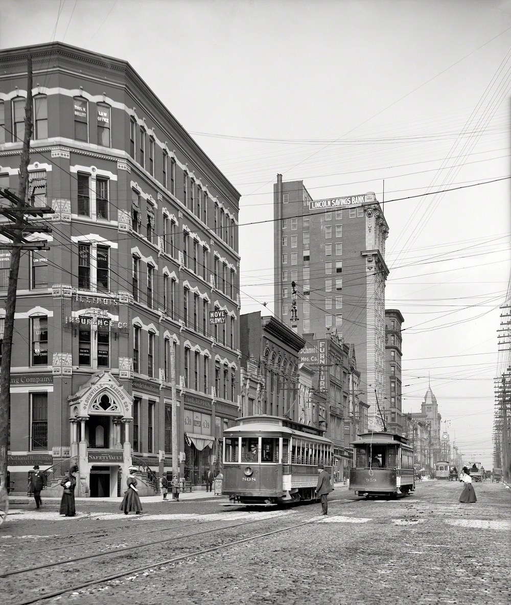 Market Street and Lincoln Savings Bank, , Louisville, 1941