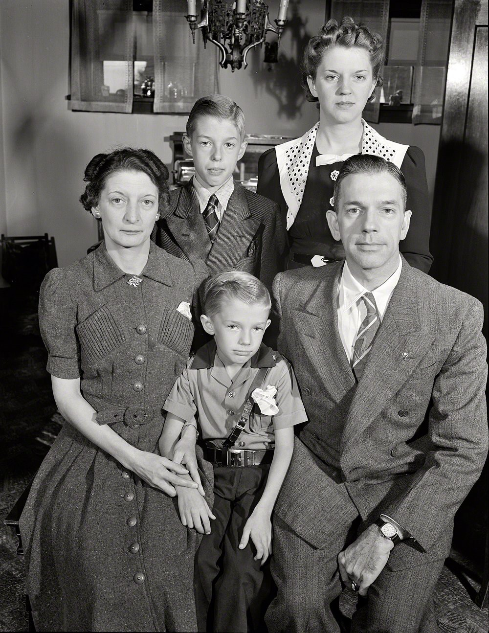 The Babcocks, a typical American war worker's family, New York, September 1942
