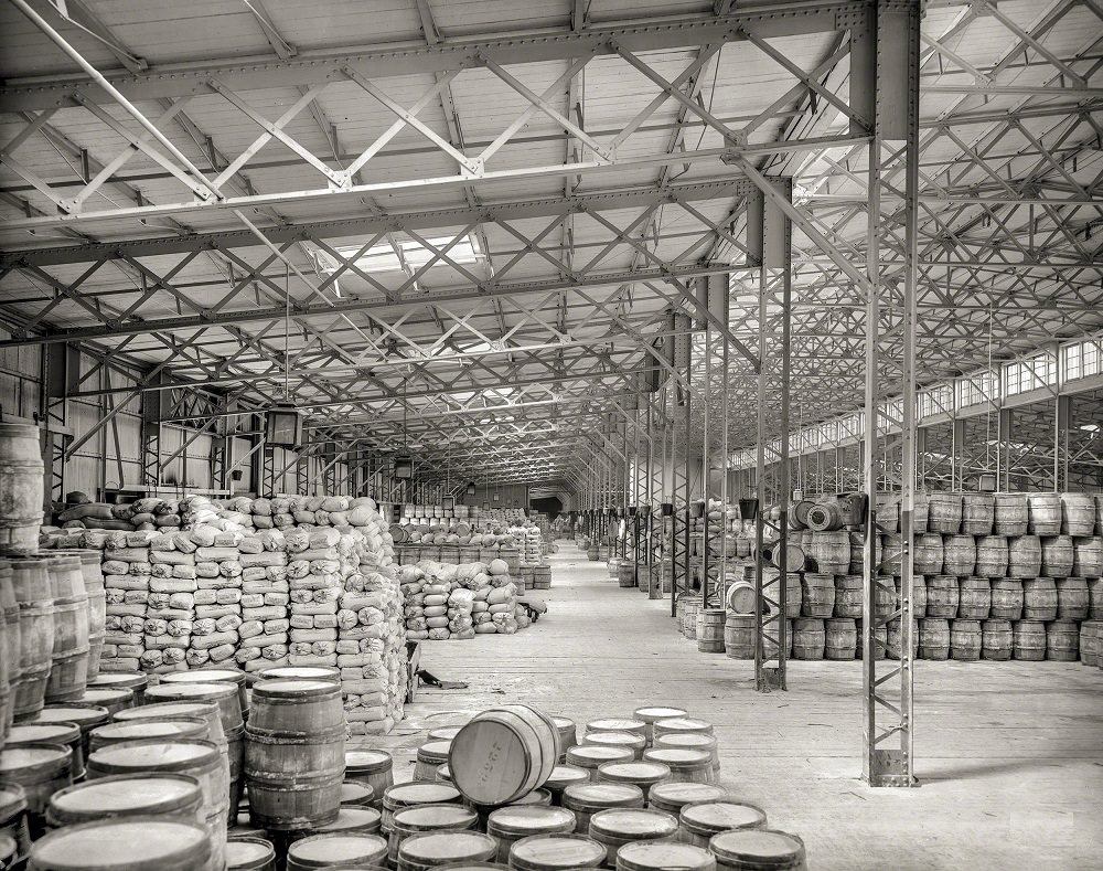New York Central freight sheds, Buffalo, 1900