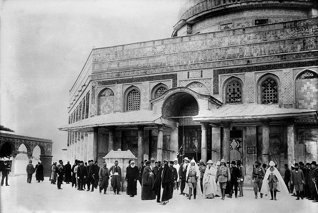 William II in Jerusalem, The emperor and the empress leaving the mosque of Omar, 1898.