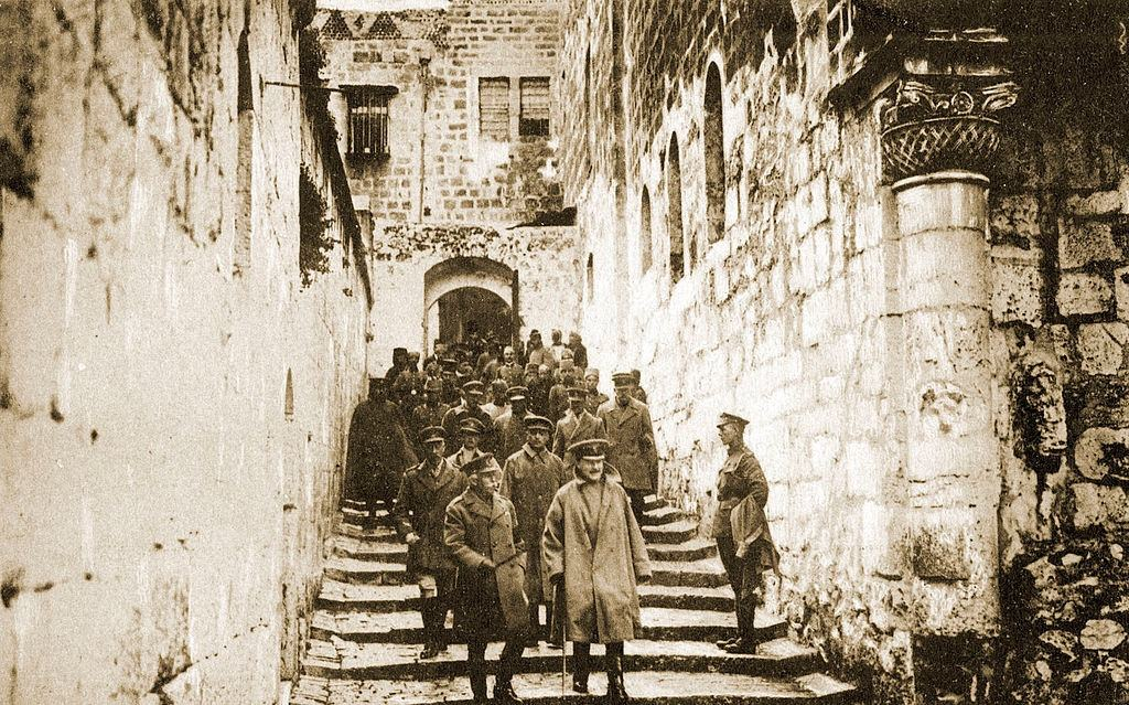 The Duke of Connaught and the British army on their way to the Church of the Holy Sepulchre, Jerusalem , 1900