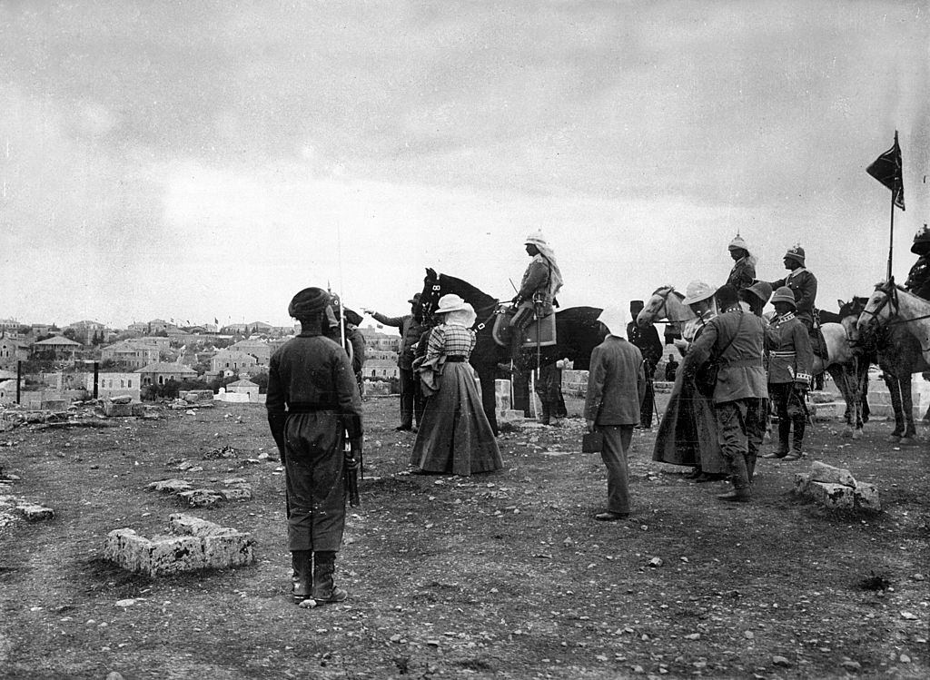 William II in Jerusalem, The emperor and the empress contemplating the panorama of the city. 1898