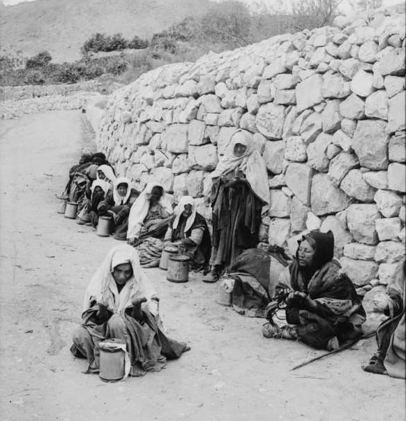 Lepers beg for alms, Circa 1900-1920